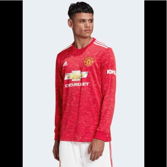 adidas Shirts   Adidas Manchester United 22 Long Sleeve Jersey ...